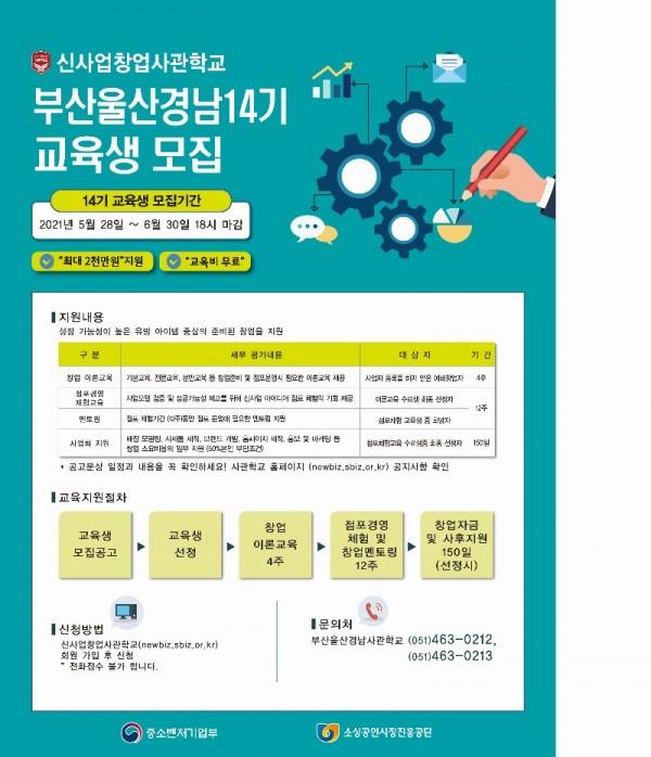 부산 울산 경남 14기 교육생 모집 포스터(21년5월).jpg